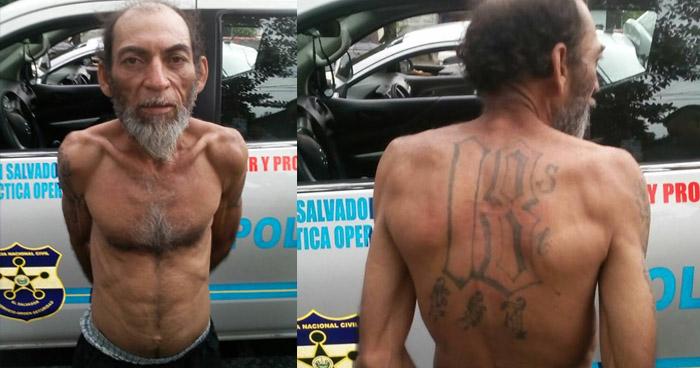 Capturan a pandillero, de 61 años de edad, por posesión de droga en San Salvador