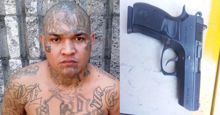 Peligroso pandillero armado fue capturado en residencial Altavista