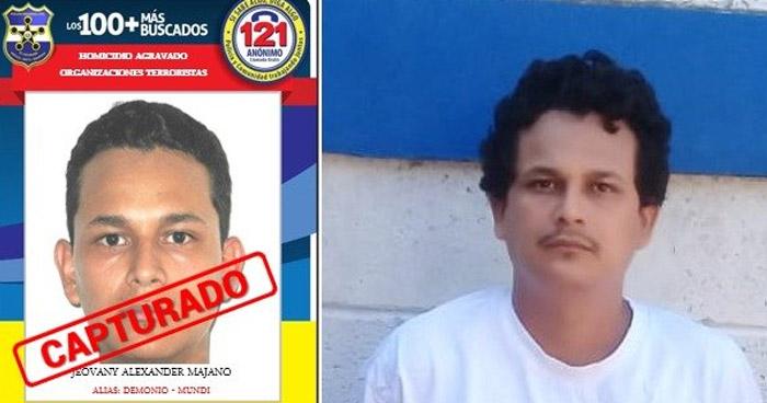 """Capturan al """"Demonio"""" pandillero de los 100 Más Buscados de El Salvador"""