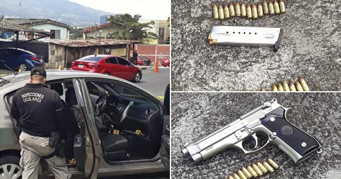 Identifican a pandilleros que conducían auto robado por Estadio Cuscatlán