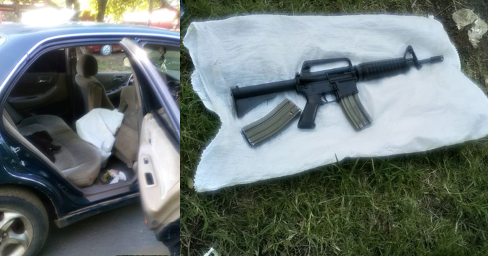 Capturan en Usulután a 5 pandilleros, incluida una mujer con un fusil M16