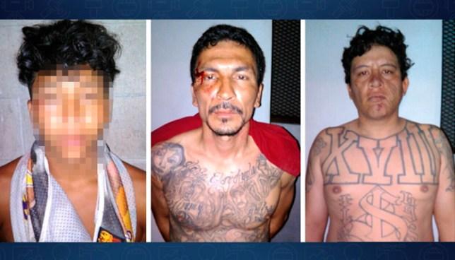 A prisión pandilleros detenidos en flagrancia con dos cadáveres, armas y droga