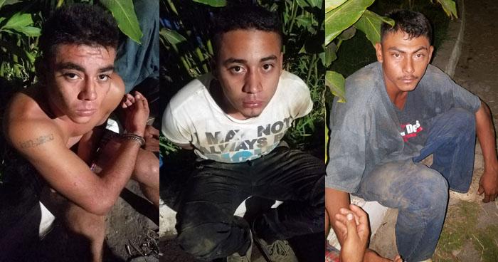 Capturan a pandilleros que portaban una pistola de la PNC en Usulután