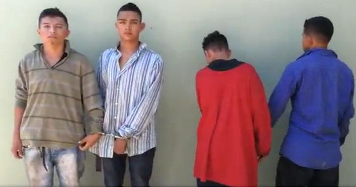 Cuatro pandilleros capturados tras enfrentamiento en Chalchuapa, Santa Ana