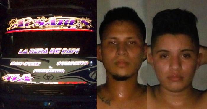 Pandilleros detenidos cuando conducían en microbús Ruta 41-A en Usulután