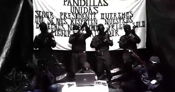 """VÍDEO: """"Pandillas Unidas"""" envían mensaje al presidente Bukele"""