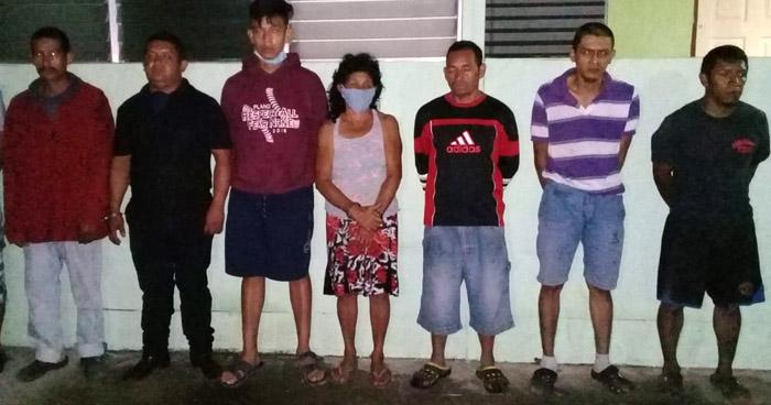 Capturan en operativo a 7 miembros de una pandilla que extorsionaba en La Libertad