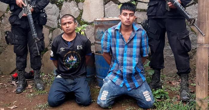 Capturan a pandilleros que atemorizaban a habitantes de una zona rural de La Libertad