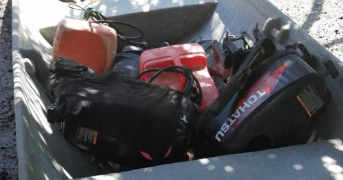 Pandilleros abandonan motores robados y un M16 al ver presencial policial en Usulután