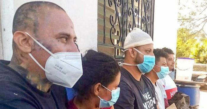 Cinco terroristas capturados tras disparar contra policías en Chalatenango