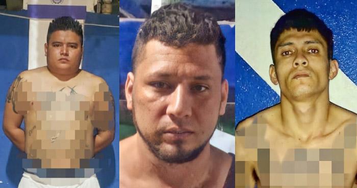 Tres pandilleros de la MS13 capturados en las ultimas horas por diferentes delitos