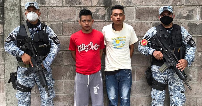Capturan a peligrosos pandilleros que operaban en Soyapango