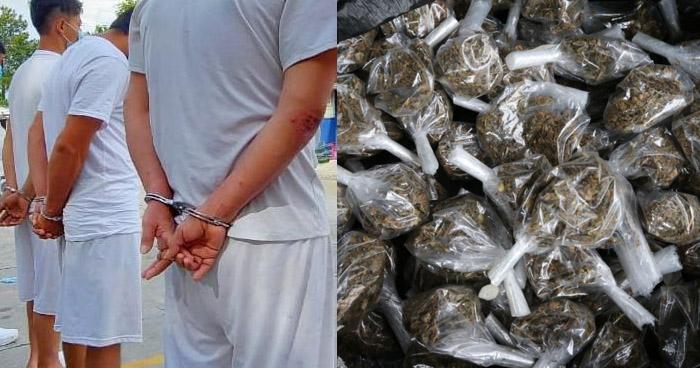 Capturan a pandilleros con droga en Ilopango