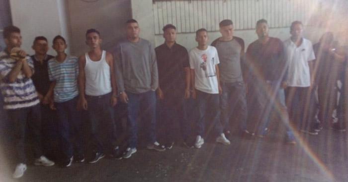 Capturan a pandilleros en bar de la Zona Real de la capital