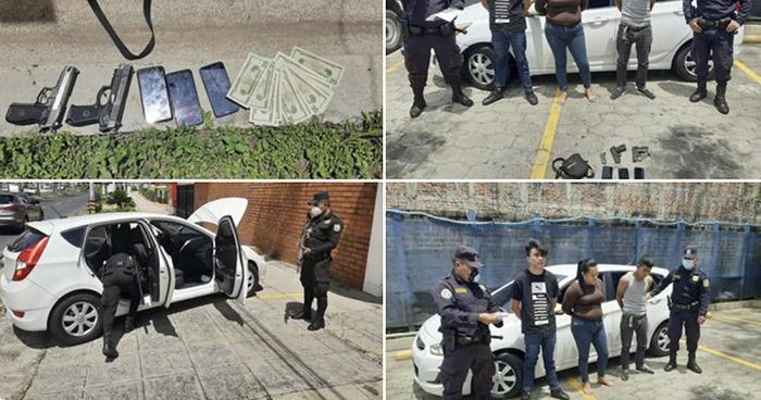 Capturan a flagrancia a 3 pandilleros  en Zona Rosa de San Salvador