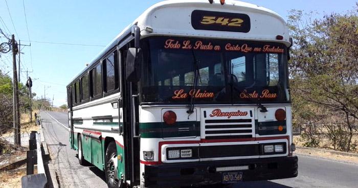 Ruta 342 de La Unión en paro de labores por amenazas de pandillas