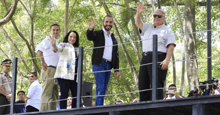 Presidente Bukele verificó hoy los avances en la remodelación del Parque Cuscatlán