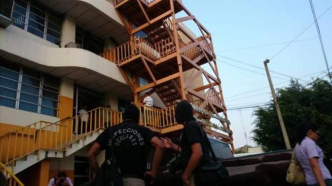 PNC y FGR realizan allanamiento en Dirección de Centros Penales