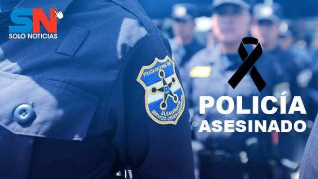 Pandilleros asesinan a agente policial en Acajutla