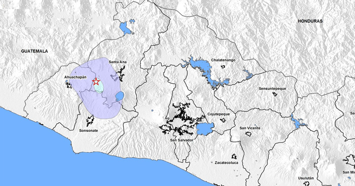 Protección Civil emite aviso por enjambre sísmico en Chalchuapa