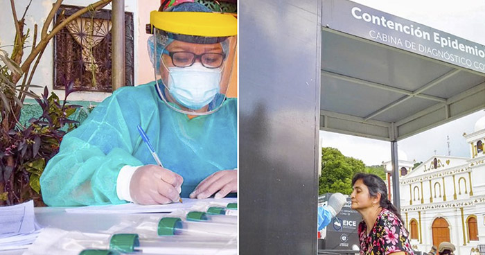 Realizan pruebas para detectar COVID-19 en Chirilagua, San Miguel