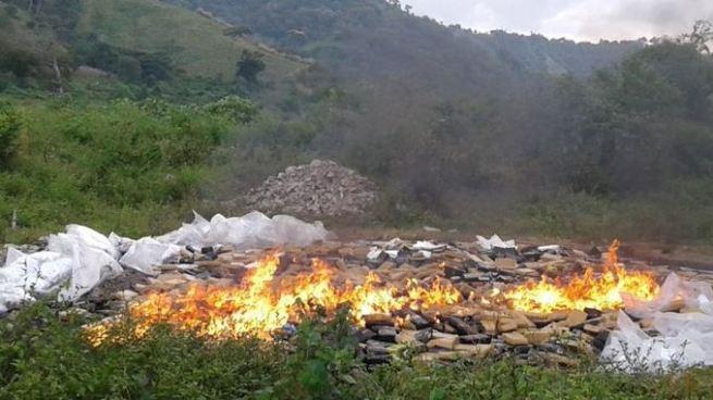 Queman 1.6 toneladas de cocaína valorada en 42 millones de dólares