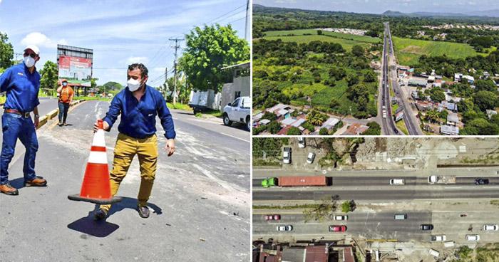 Habilitan paso vehicular en carretera a Quezaltepeque