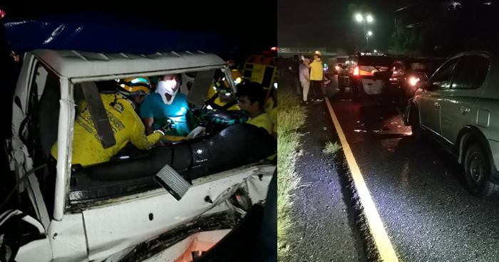Conductor ebrio causa quíntuple accidente de transito en San Martin