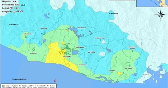 16 réplicas se registran tras fuerte sismo frente a la costa de La Libertad