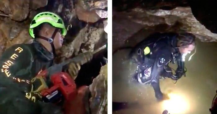 Rescatistas tardan 11 horas en completar cada viaje para rescatar a uno de los atrapados en Cueva de Tailandia