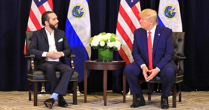 Presidente Donald Trump se compromete a continuar apoyando a El Salvador