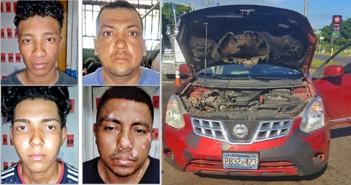 Un nicaragüense y tres capturados más por robo en Sonsonate