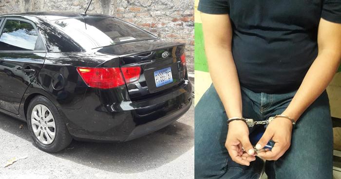 Sorprenden a sujeto conduciendo un vehículo con reporte de robo en San Miguel