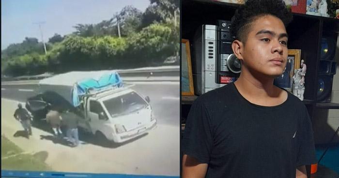 Capturan a un involucrado en asalto de un camión en carretera a Quezaltepeque