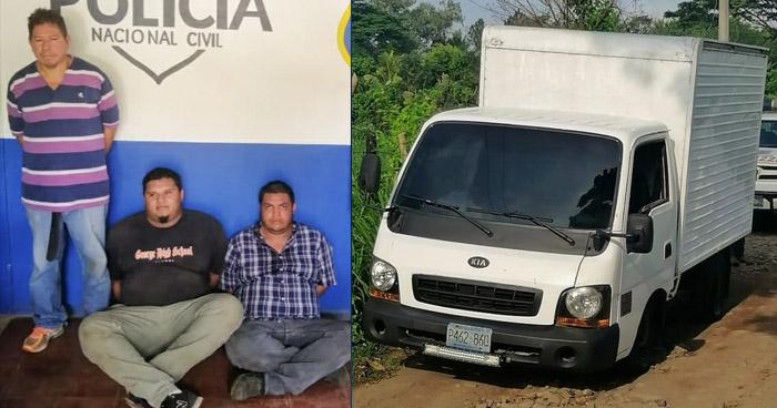 Capturados tras perpetrar robo a mano armada en Santa Ana