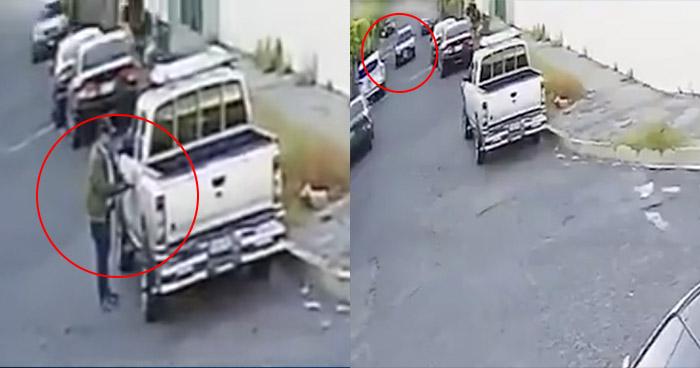 VIDEO   Captan a sujeto hurtando en vehículo en San Salvador