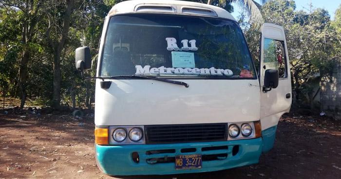 Ruta 11 de San Miguel en paro de labores por amenazas de pandillas