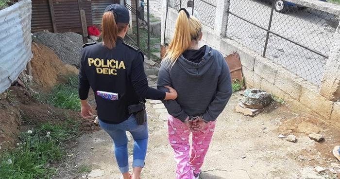 Sicaria salvadoreña fue capturada en Guatemala