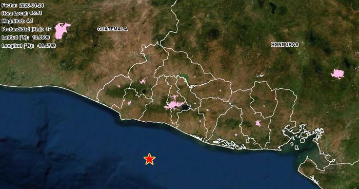 Sismo de 4.1 en la costa de La Libertad sacudió el país esta mañana