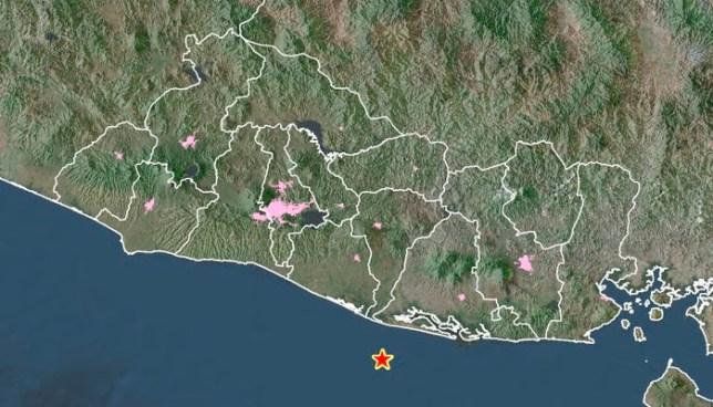Sismo de 4.3 en la costa de Usulutan sacudió el oriente del país esta noche