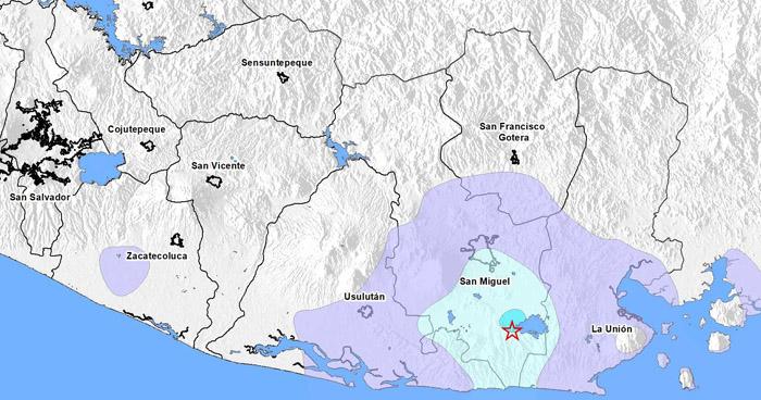 Sismo de 3.5 sacudió esta tarde a Chirilagua, San Miguel