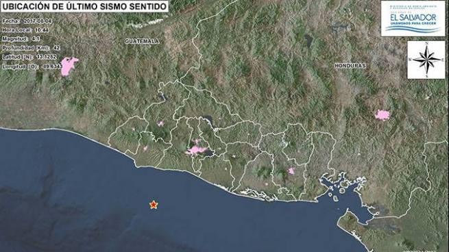 Sismo de 4.1 sacude territorio salvadoreño esta mañana