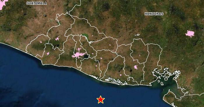 Sismo de 4.3 sacudió este domingo la costa de Usulután