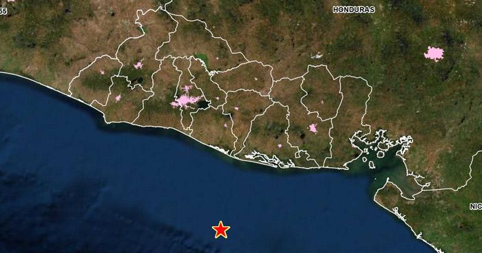 Sismo de 3.8 sacudió este mediodía la costa de San Vicente
