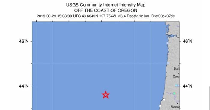 Sismo de 6.3 sacude la costa de Oregon, Estados Unidos