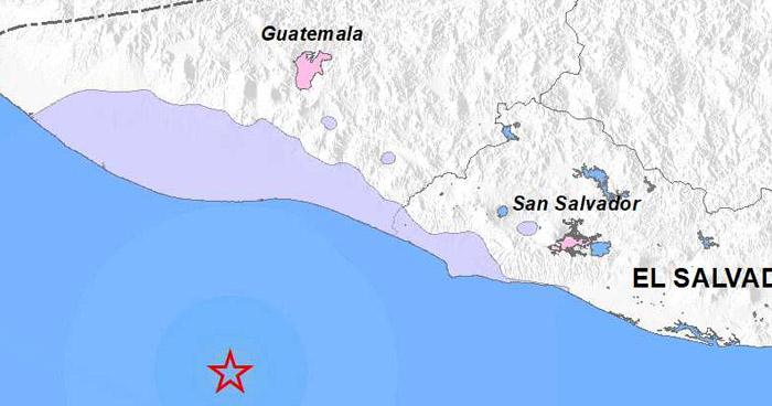 Sismo de 4.7 sacudió esta mañana la costa occidental del país