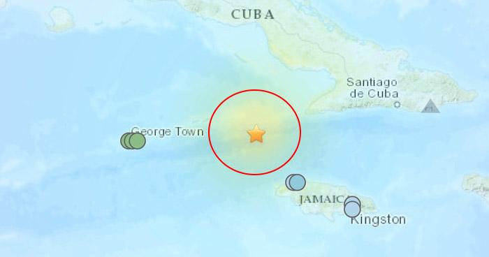 Sismo de 7.7 sacudió el sur de Cuba y el noroeste de Jamaica este martes