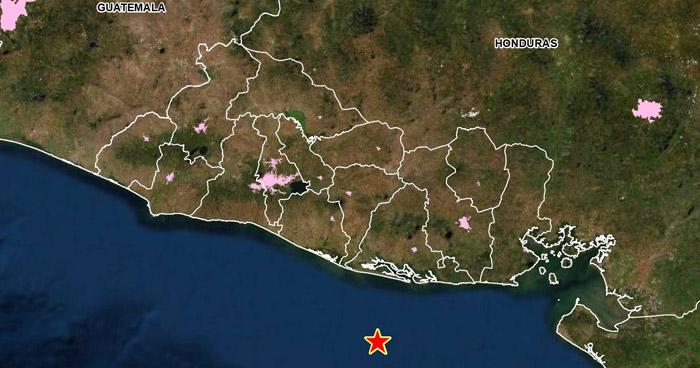 Sismo de 3.5 sacudió esta tarde la costa de Usulután