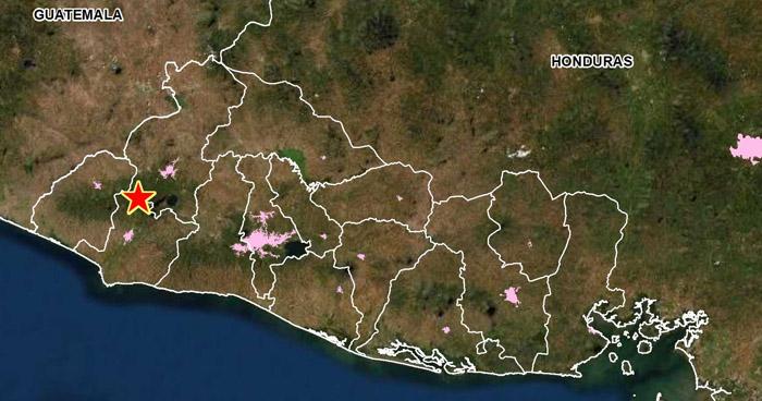 Dos sismos se registraron esta mañana en Juayúa, Sonsonate