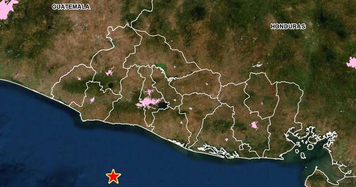 Sismo sacudió hoy parte de la costa de El Salvador